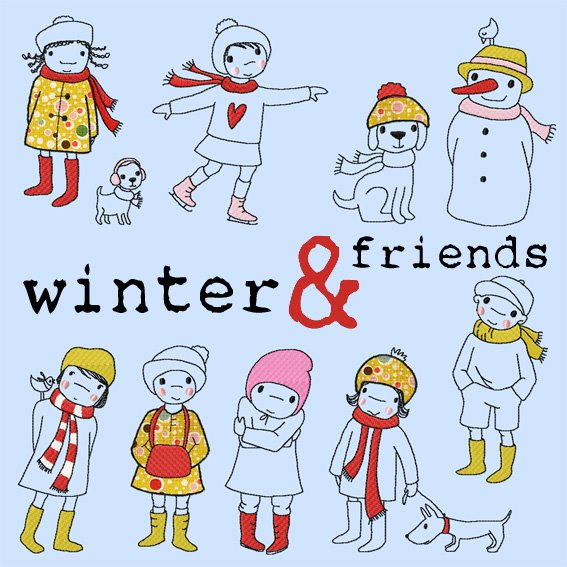 winter and friends