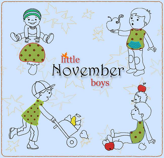 little NOVEMBER boys