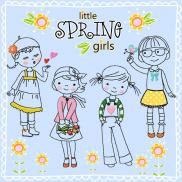 little SPRING girls