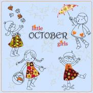 little OCTOBER girls